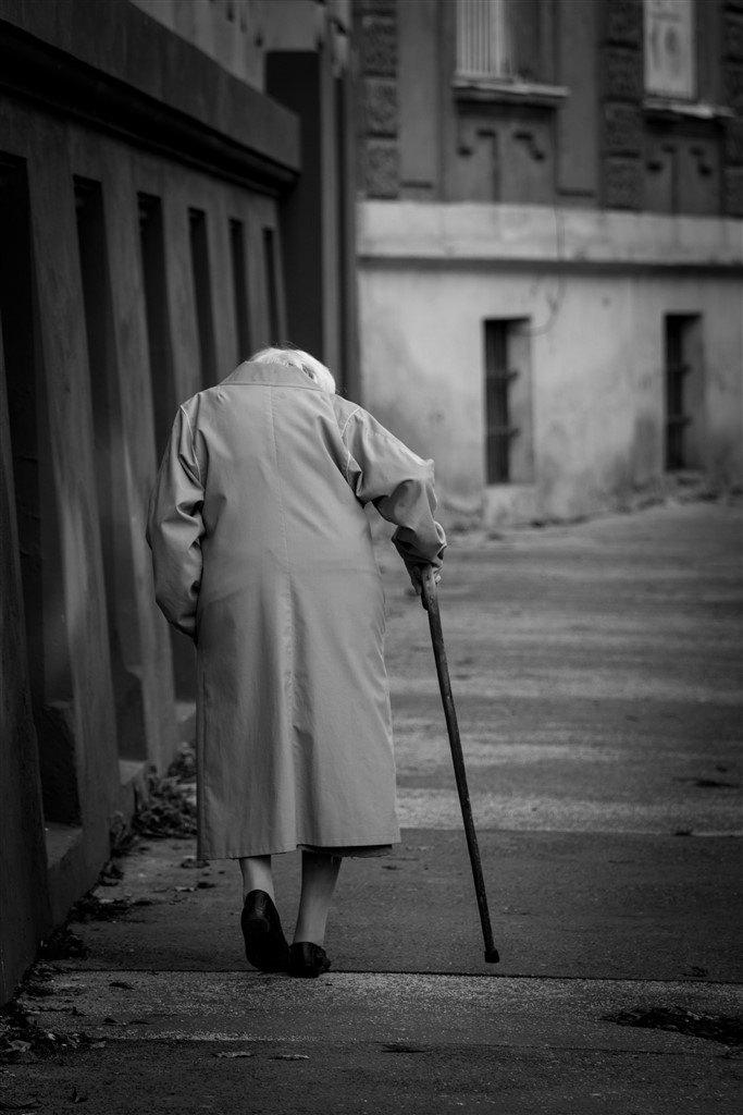 Bratislava old woman